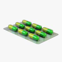 medical capsules 3D model