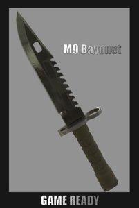 3D m9 bayonet - ready model