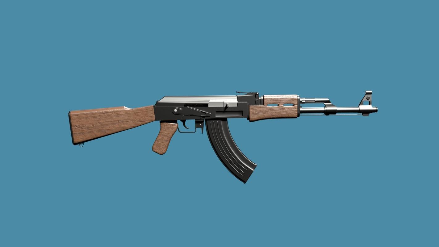 ak 47 assault rifle 3D model