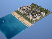 city beach 3D model