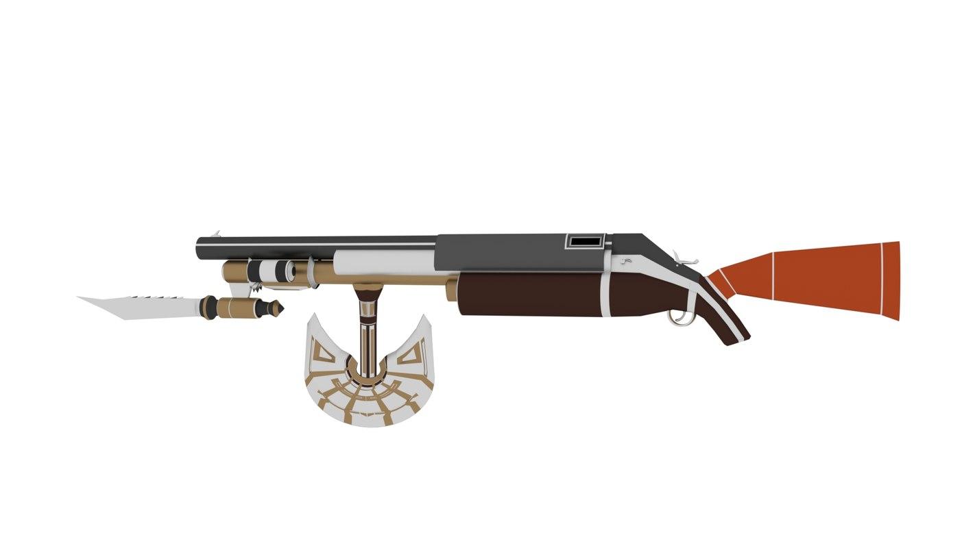 rifle apocalyptic 3D