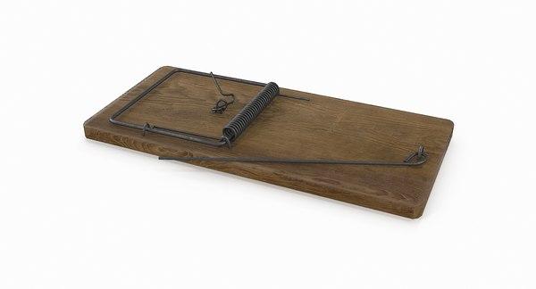 trap mousetrap mouse 3D model