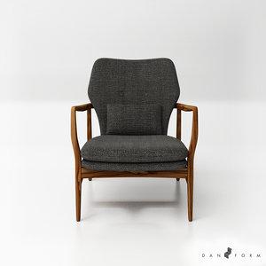 dan form infinity lounge chair 3D model
