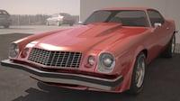 3D chevrolet camaro 1976 model