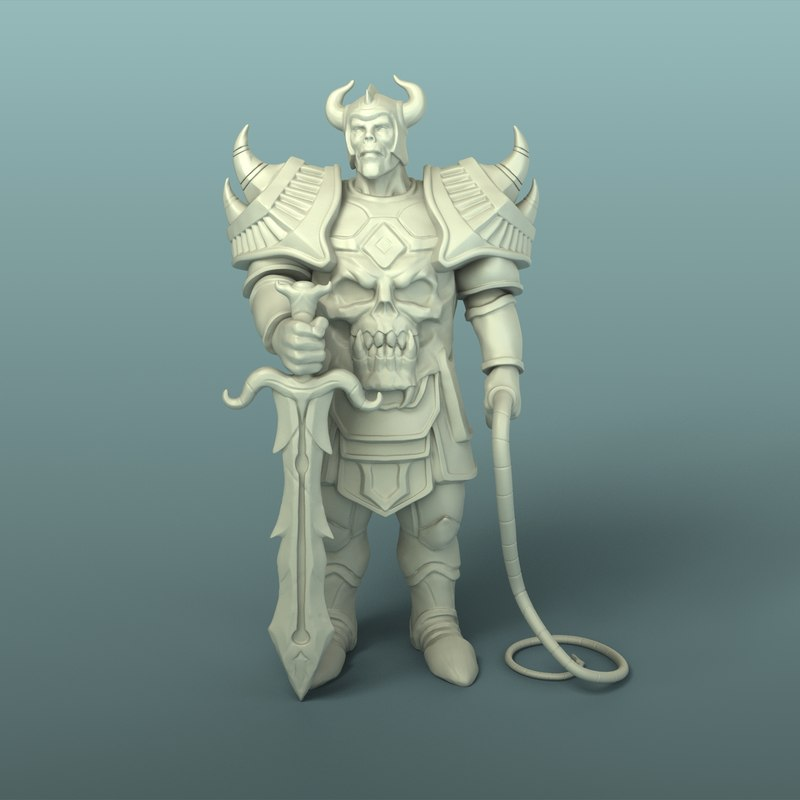 mighty warrior 3D model