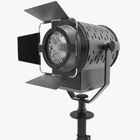 3D spotlight tripod
