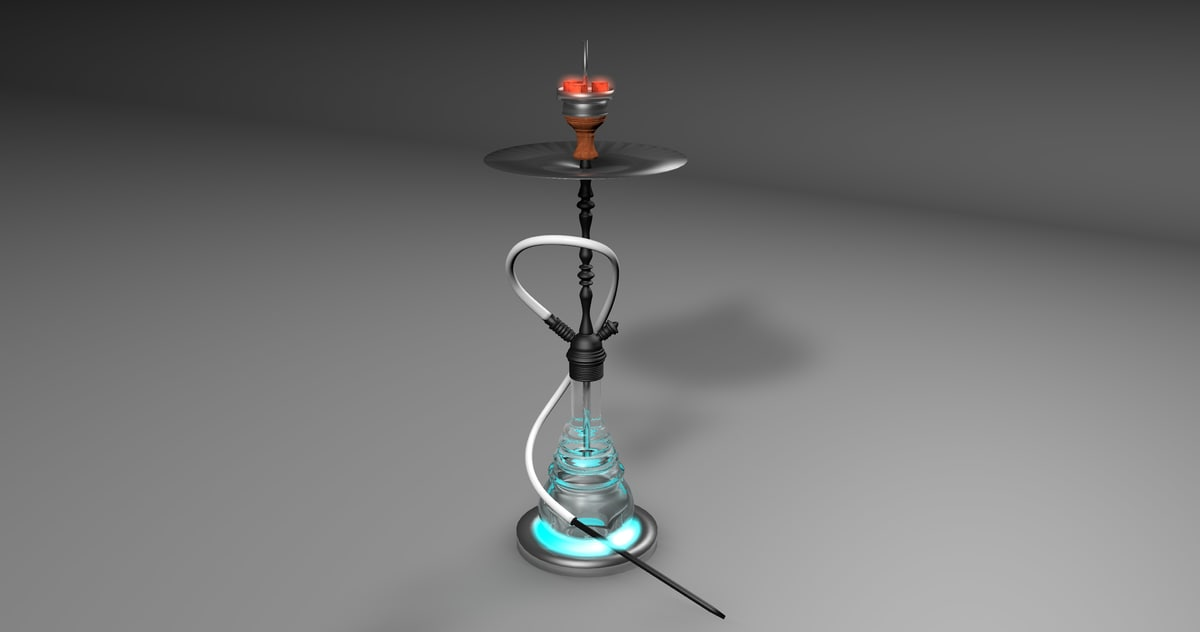 3D shisha hookah model