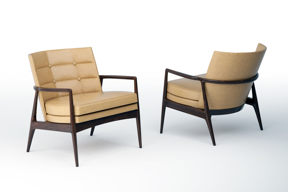 thayer draper lounge chair 3D model