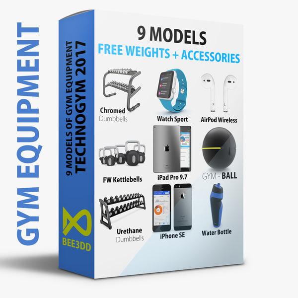 - 9 weights accessories 3D