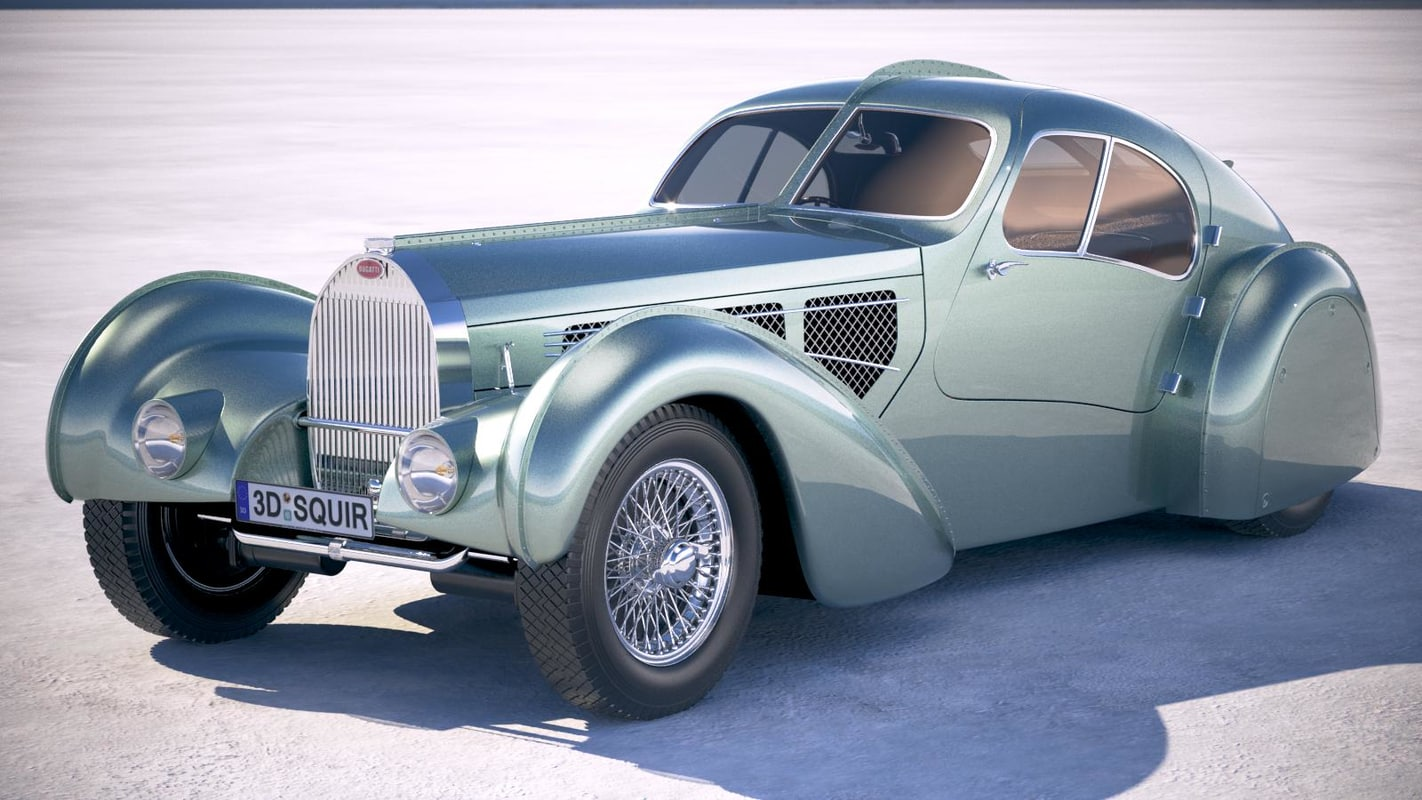 3D bugatti type 57 model