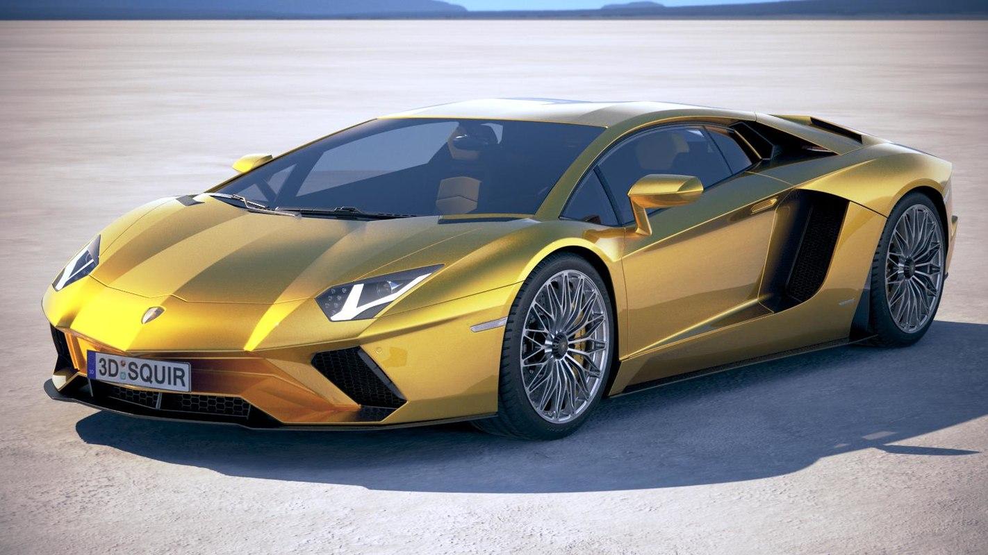 Lamborghini Aventador S Model Turbosquid 1166758