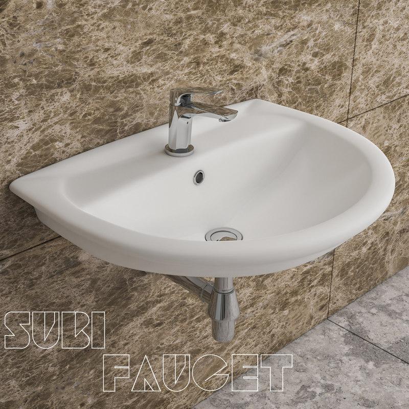 3D model faucet basin