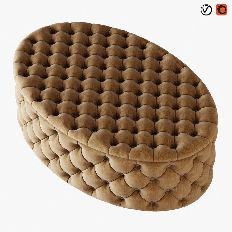 3D pouf gabrielli