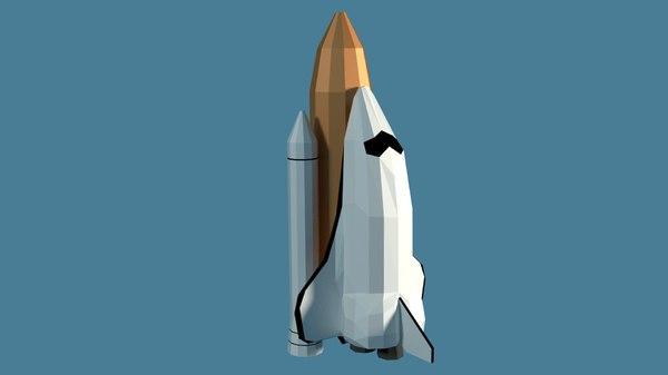 3D cartoony space shuttle