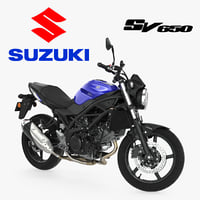 street motorcycle suzuki sv650 3D model