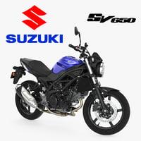 Street Motorcycle Suzuki SV650 Rigged