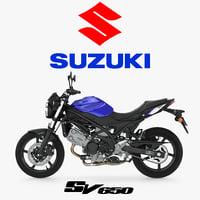 street motorcycle suzuki sv650 3D