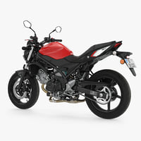 3D sport bike suzuki sv650 model