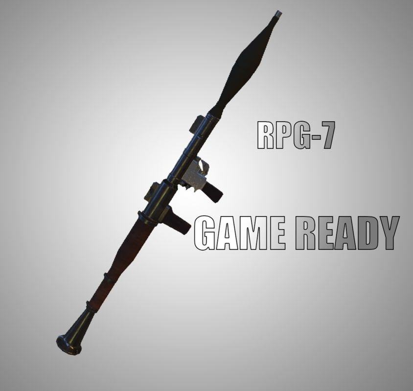 3D ready rpg-7 games - model