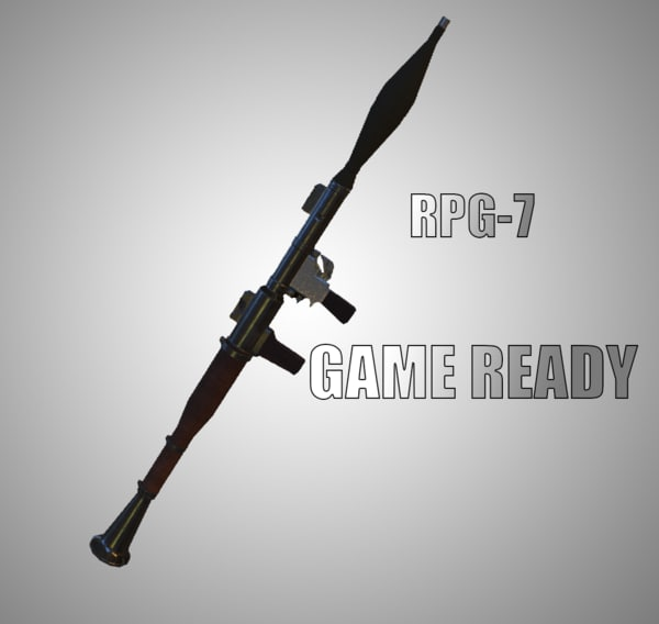 3D ready rpg-7 games - model
