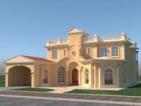 3D roman villa 3