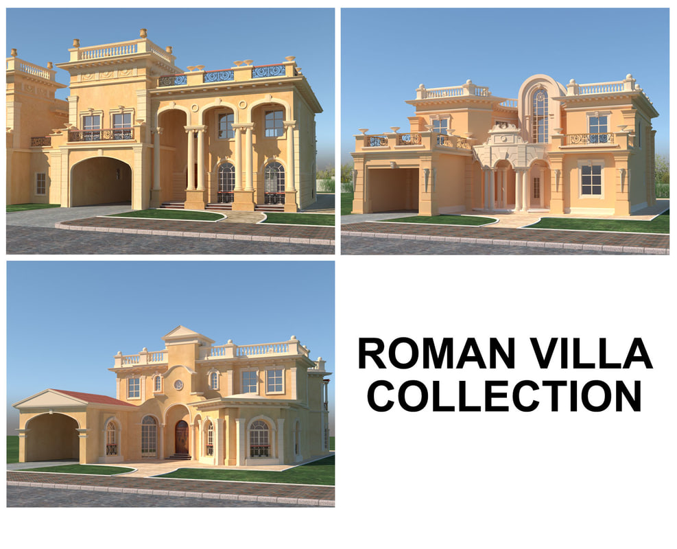 3D roman villas model