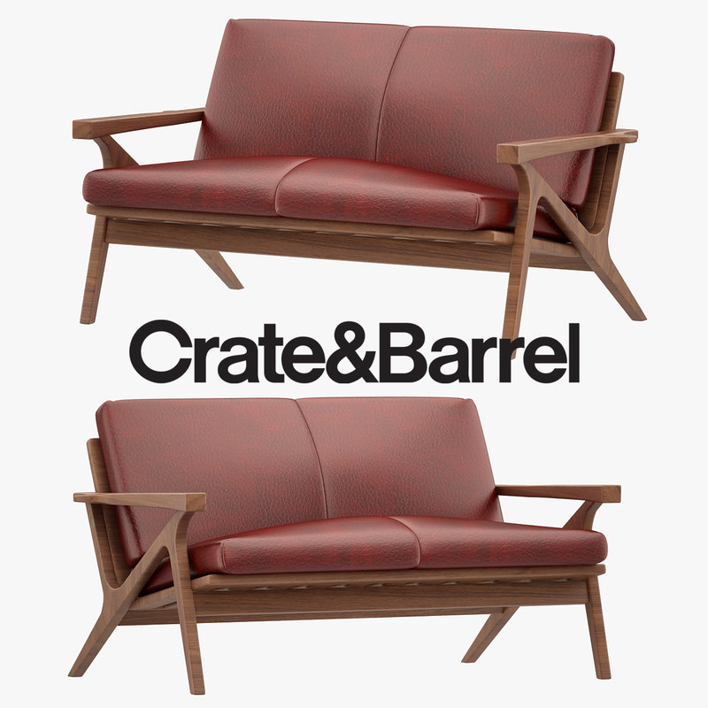 3D cavett armchair model