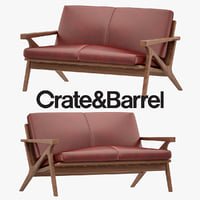 3D cavett armchair model