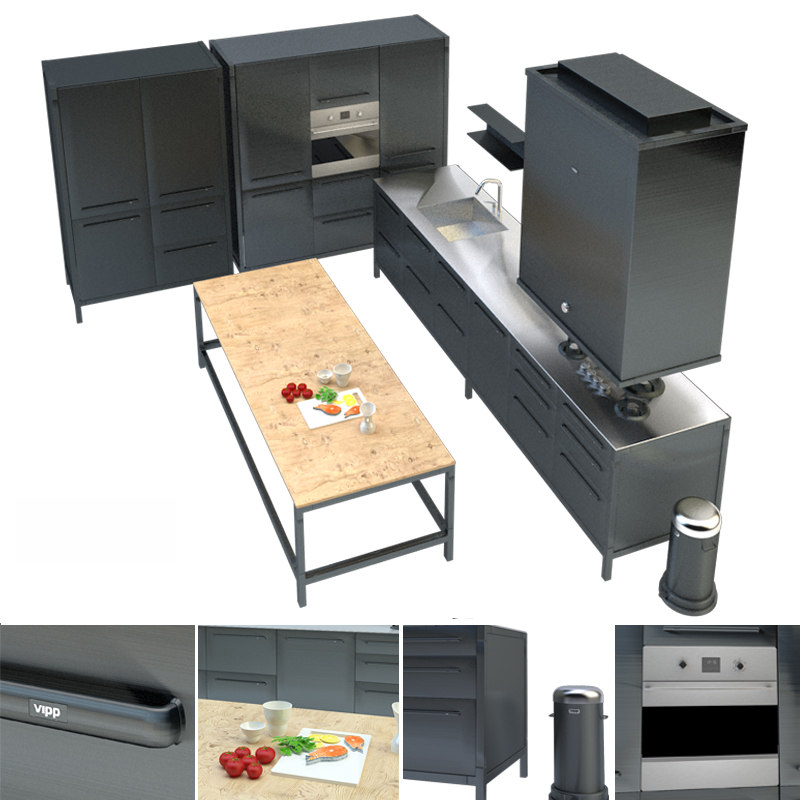 vipp kitchen model turbosquid 1166866