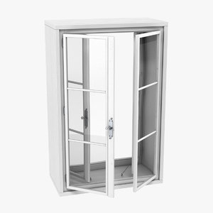 3D model box window