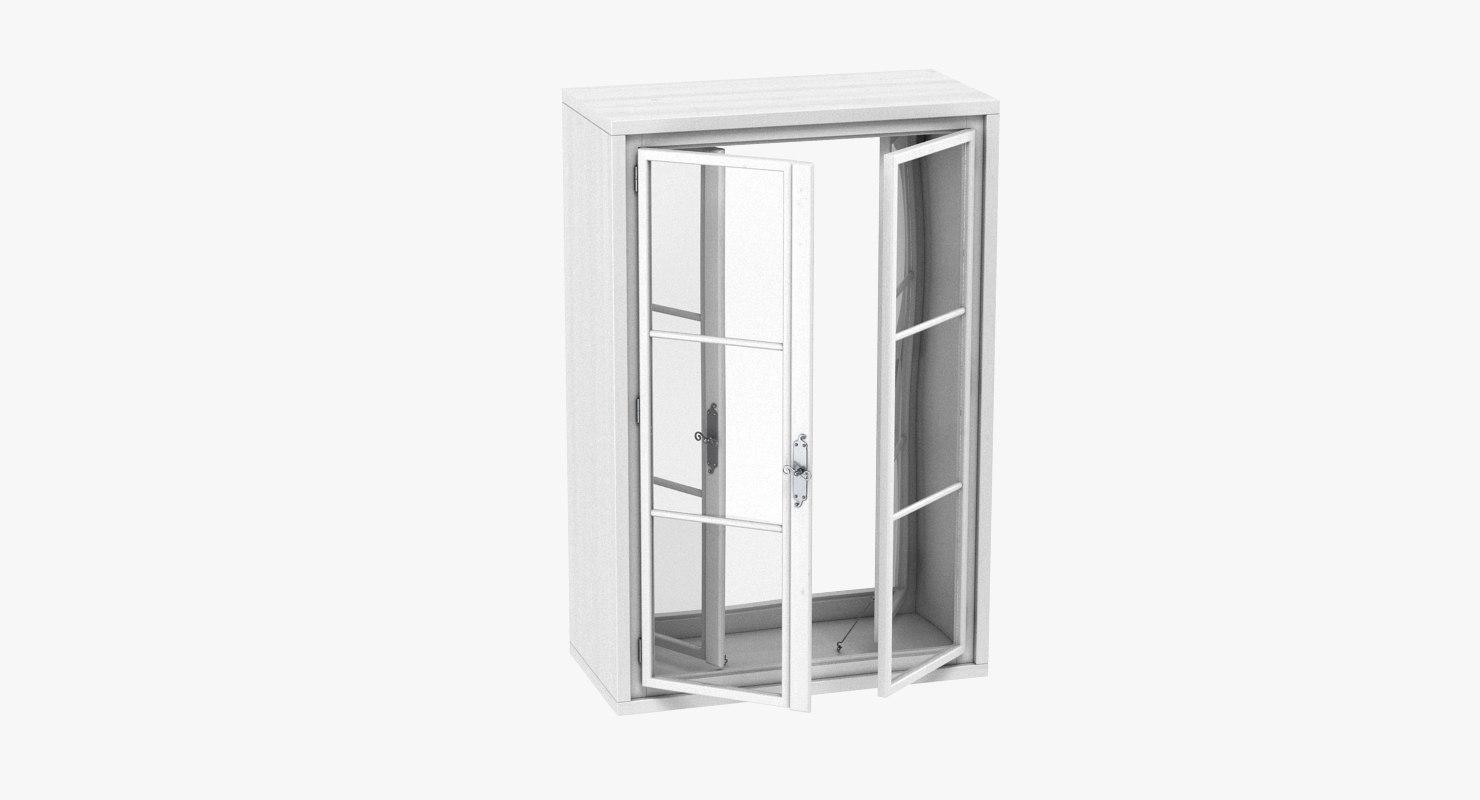 3D model box window