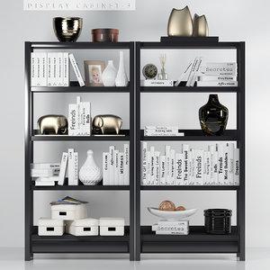 display cabinet 3 3D model