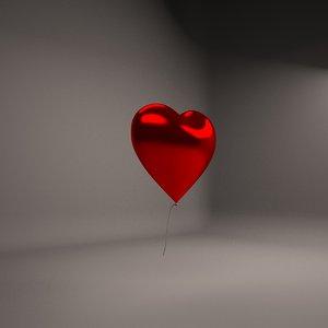 3D heart shape balloon