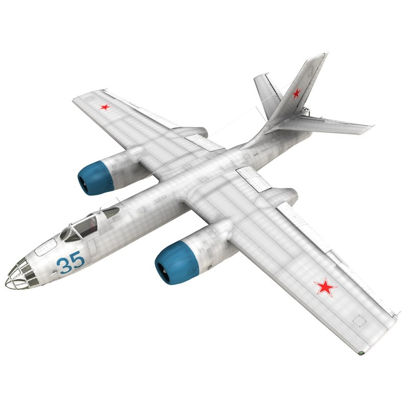 3D model ilyushin il-28 beagle air force
