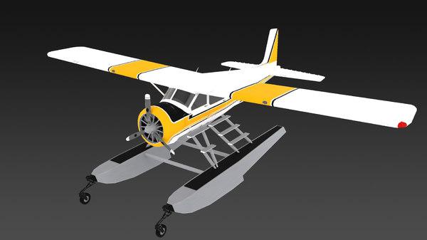 havilland canada dhc-2 3D model