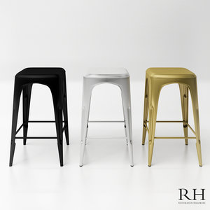 rh remy backless counter 3D