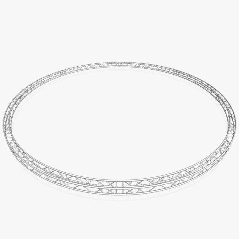 circle square truss diameter 3D model