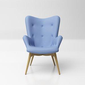 grant featherston contour lounge chair 3D model