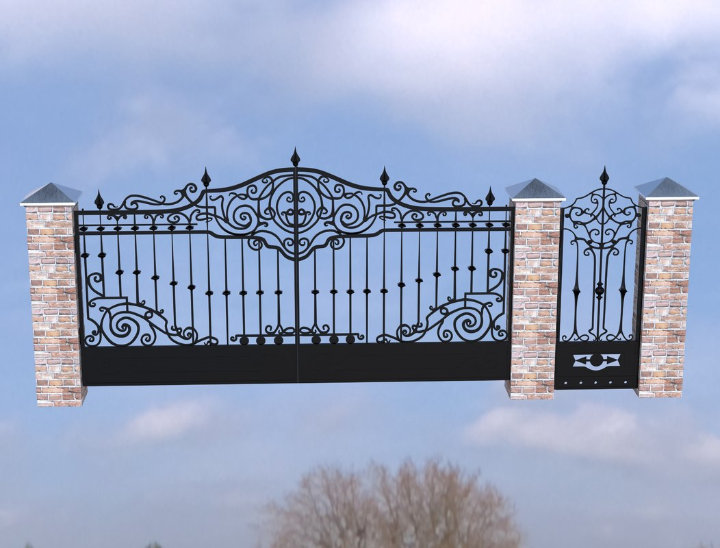 gate wrought iron 3D model