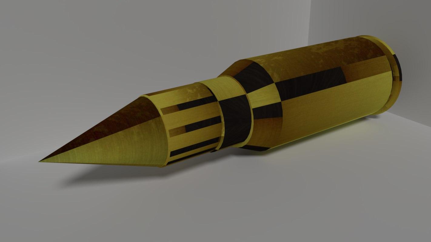 bullet shell 3D model