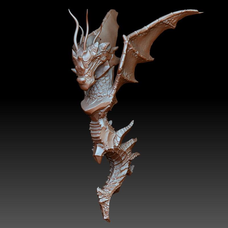 3D model dragon zbrush