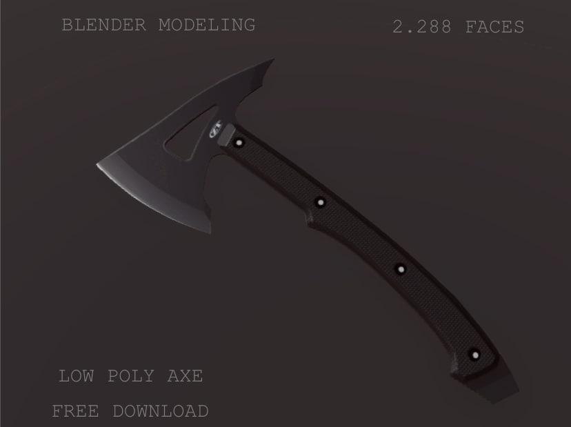 axe tomahawk 3D model