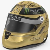 3D model helmet michael schumacher 20th