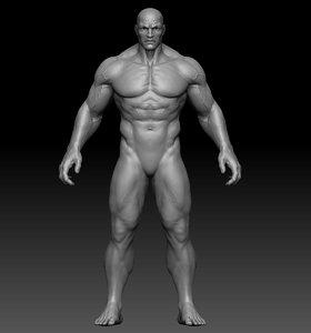 man anatomy zbrush 3D model