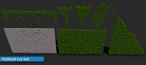 3D ivy door set