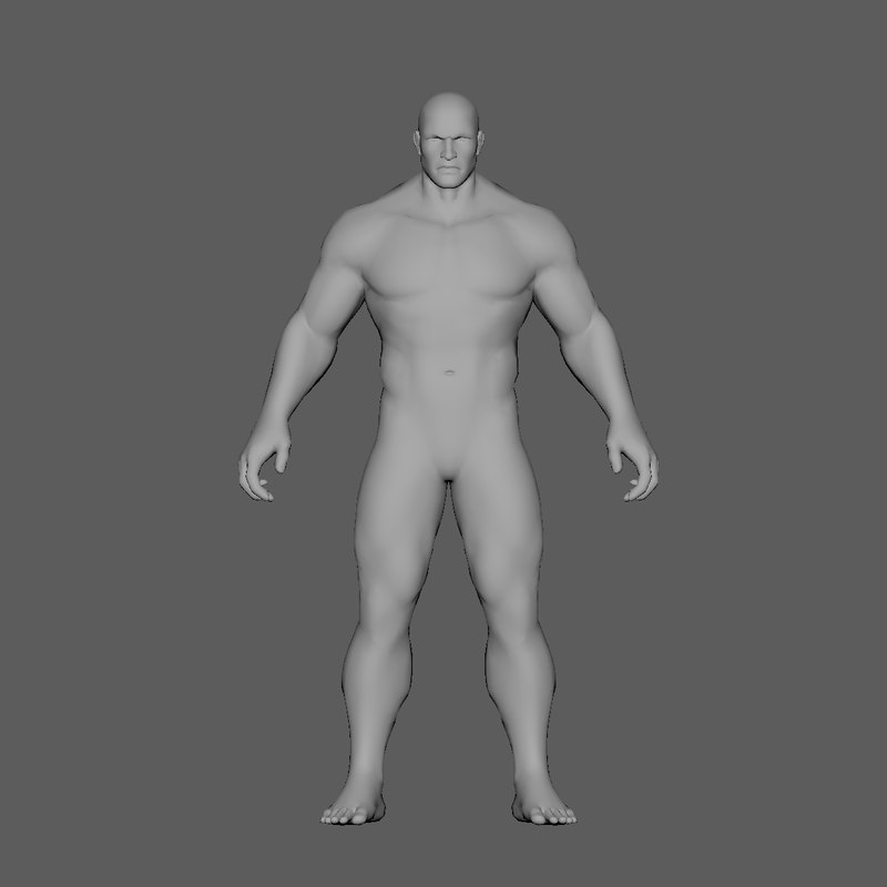 3D model man base highpoly