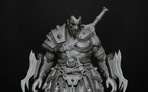 3D barbarian highpoly sculpt zbrush model