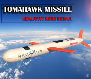 tomahawk cruise missile 3D model