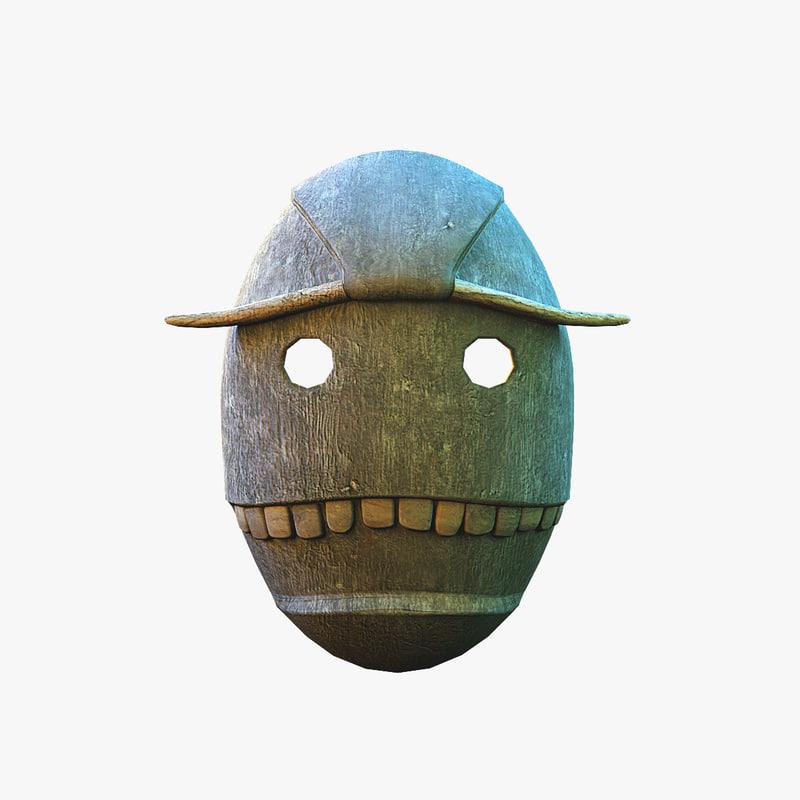 mask voodoo 3D model