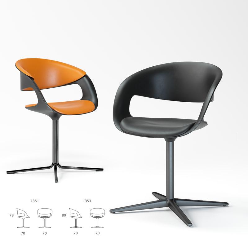 3D model walter knoll lox chair